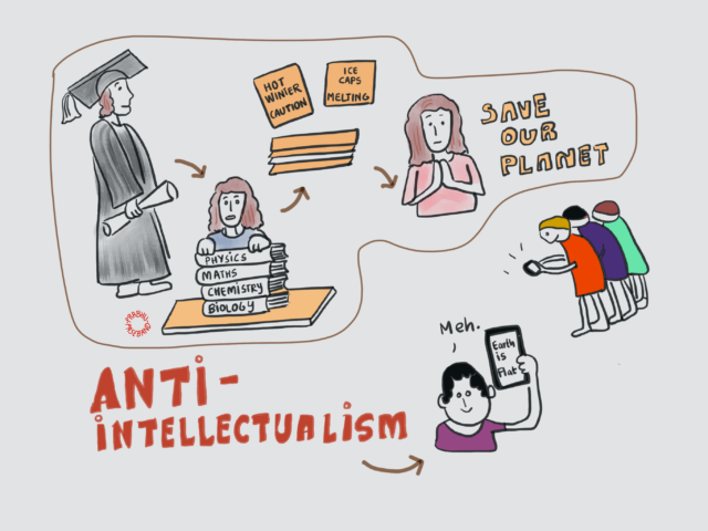 Cartoon explaining anti intellectualism